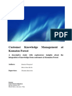 Customer Knowledge Management at Komatsu Forest