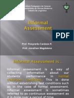 Informal Assessment Buts Report Sunday