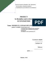 MODELUL LINIAR MULTIFACTORIAL                          pentru 5 variabile
