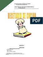 Recetario Para Manual de Menús Maternales y Preescolares