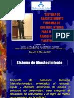 """SISTEMA DE  ABASTECIMIENTO Y NORMAS DE  CONTROL INTERNO  PARA EL ÁREA DE  ABASTECIMIENTOS  Y ACTIVOS FIJOS"""""""