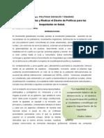 Politicas Sociales y Equidad