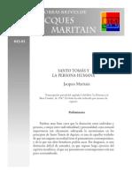 Santo Tomás y La Persona Humana - Jacques Maritain