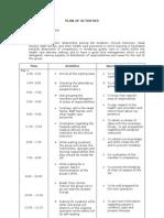 Head Nursing Plan of Activities