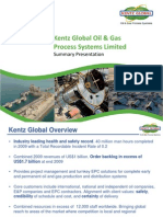 Kentz Global - Summary Presentation