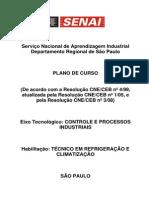 PLANO CURSO CT Refrigeracao 1500 Horas