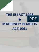 ESI & Maternity Benefits Act Presentation