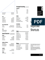 Word 2003 Keystroke Shortcuts