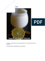 Iogurte de Limão e Canela
