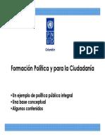 PNUD Colombia-Formación Política y Para La Ciudadanía 2008