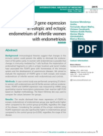 Aberrant FOXP3 gene expression in eutopic and ectopic endometrium of infertile women with endometriosis