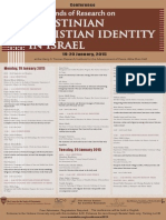 Invitation Palestinian Christian Identity New Trends in Research Conference 2015