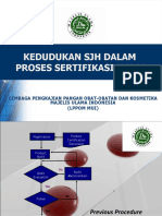 Kedudukan SJH Dalam Proses Sertifikasi Halal2003