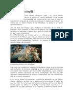 Sandro Botticelli, Davinci, Rafael, Miguel Angel