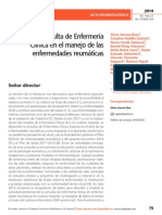 Desarrollo Consulta de Enfermería Clínica en el manejo de las enfermedades reumáticas
