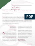 E1 Critica Sobre La Dialectica Cripto Reaccionaria