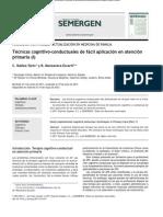 Técnicas Cognitivo-conductuales de Fácil Aplicación en Atención Primaria Parte 1
