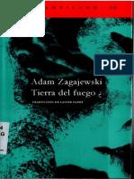 Adam Zagajewski Tierra Del Fuego PDF