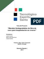Macetas Biodegradables de Fibra de Coco