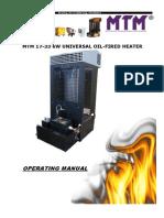 Generator Aer Cald Pe Ulei Uzat Functionare Prin Vaporizare MTM 17 33 KW 1000 m3 h Fisa Tehnica