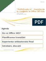 Profinfo.edu.Ro Upgrade to Office365