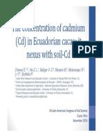 Cadmium in Cacao Beans