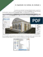 Tutorial Básico para la Exportación de Archivos de Archicad a Artlantis Studio.