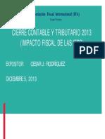Modelo Cierre Contable y Tributario IFRS 2013