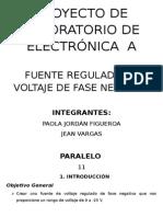 FUENTE REGULADA DE VOLTAJE DE FASE NEGATIVA