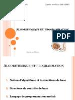 Cours Algorithmique Calcul Scientifique