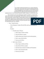 Plan of Procedures