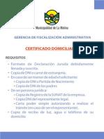 19 - CERTIFICADO DOMICILIARIO