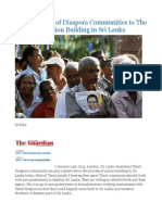 Contributions of Diaspora Communities to the Process of Nation Building in Sri Lanka