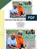 Valentines Day Specials at La Casita Tacos in West End Vancouver BC