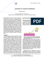 Lipid Nanoparticle in Cosmetics Formulation