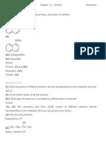 Chemistry Amines