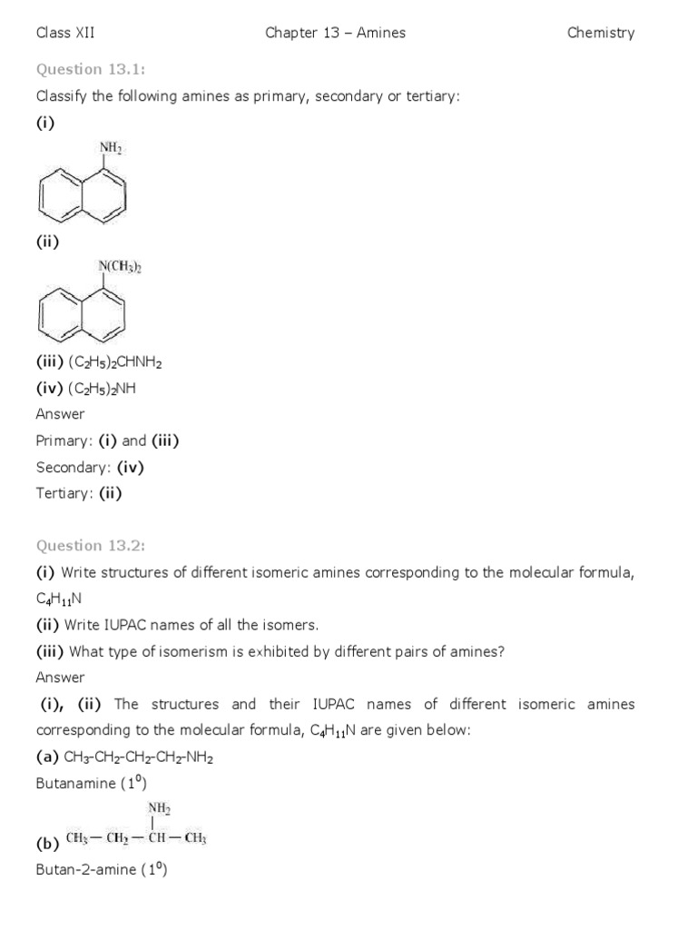 Chemistry Amines | Amine | Functional Group