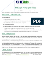 Exam Hints and Tips NDip and IDip