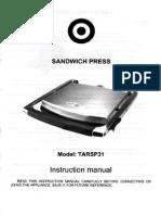 Target Sandwich Press Model TARSP31
