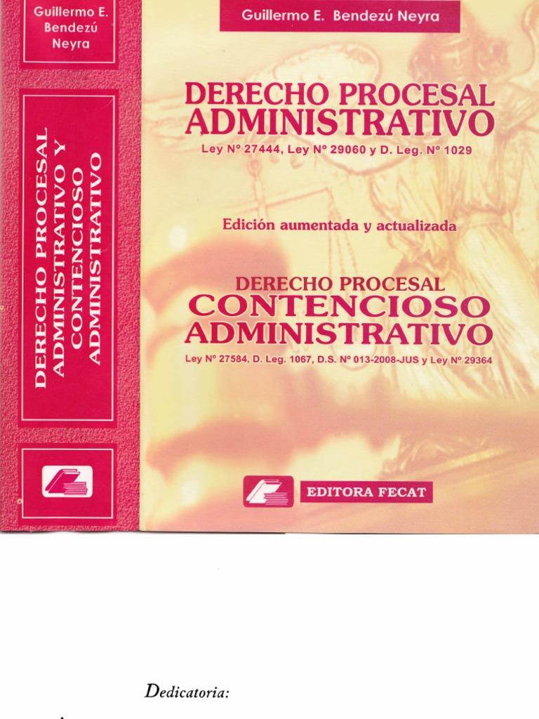 Derecho Procesal Administrativo y Contencioso Administrativo ...