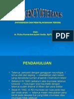 Emergency of Tetanus