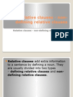 Relative Clauses Non-Defining Relative Clauses