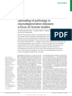Spreading of pathology in neurodegenerative diseases