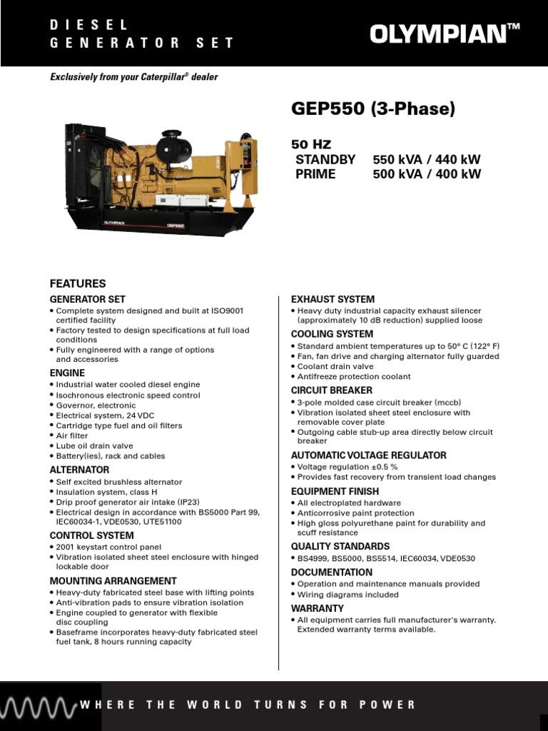 Ficha Gerador Olympian Gep550 Coolant Radiator 4001e Control Panel Wiring Diagram
