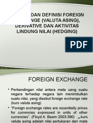 Lindung nilai - Wikipedia bahasa Indonesia, ensiklopedia bebas