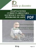 Adaptaciones Curriculares Para Alumnos y Alumnas Con Síndrome de Asperger