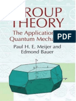 Group Theory - The Application to Quantum Mechanics [Meijer-Bauer]