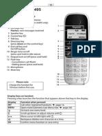Siemens Gigaset A490 A495 IP Phone User Guide