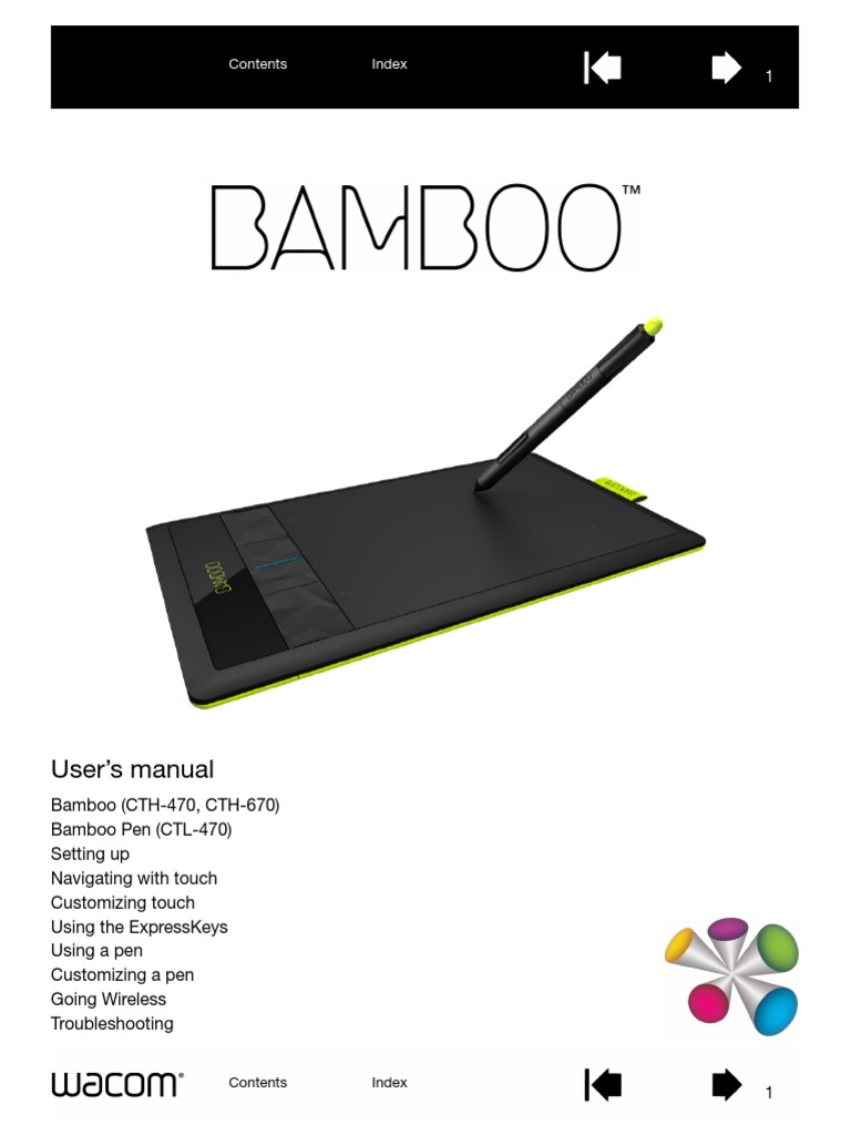 bamboo users manual tablet computer point and click rh scribd com wacom bamboo user guide wacom bamboo tablet user manual