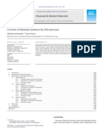 A Review of Diamond Synthesis by CVD Processes